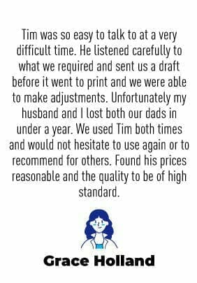 Funeral Order Of Service Testimonial No6