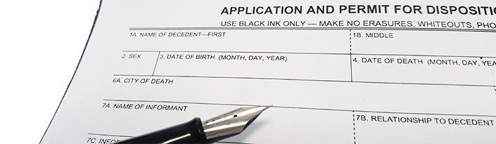 California Disposition Permit