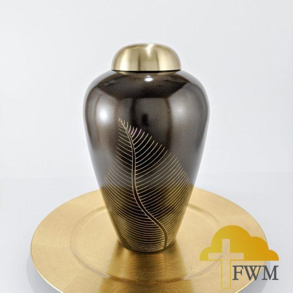 compassion brass metal cremation jar urn
