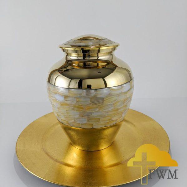 honor brass metal cremation jar urn