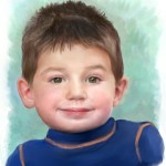 Digital portrait of child