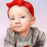 Digital Portrait of baby girl