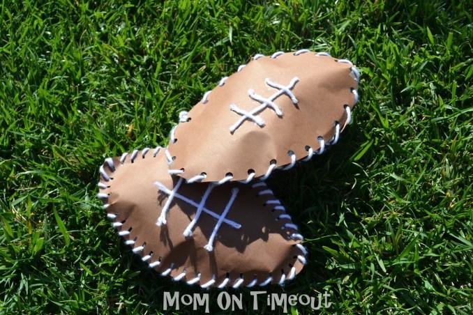 Sewn Paper Footballs | Fun Family Crafts