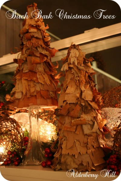 Birch Bark Christmas Trees Fun Family Crafts