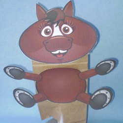 Horse Paper Bag Puppet Fun Family Crafts