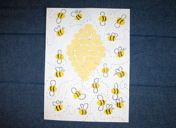 Fingerprint Busy Bees Fun Family Crafts