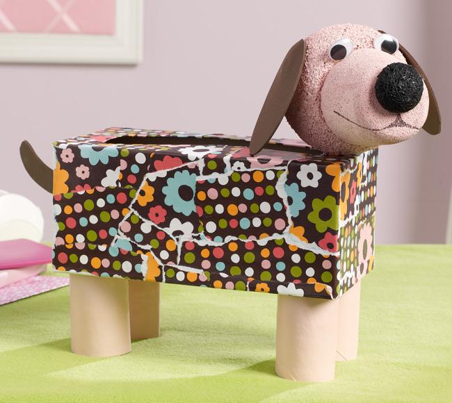 Tissue Box Doggie Fun Family Crafts