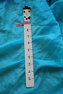 Paint Stick Snowman Snow Ruler