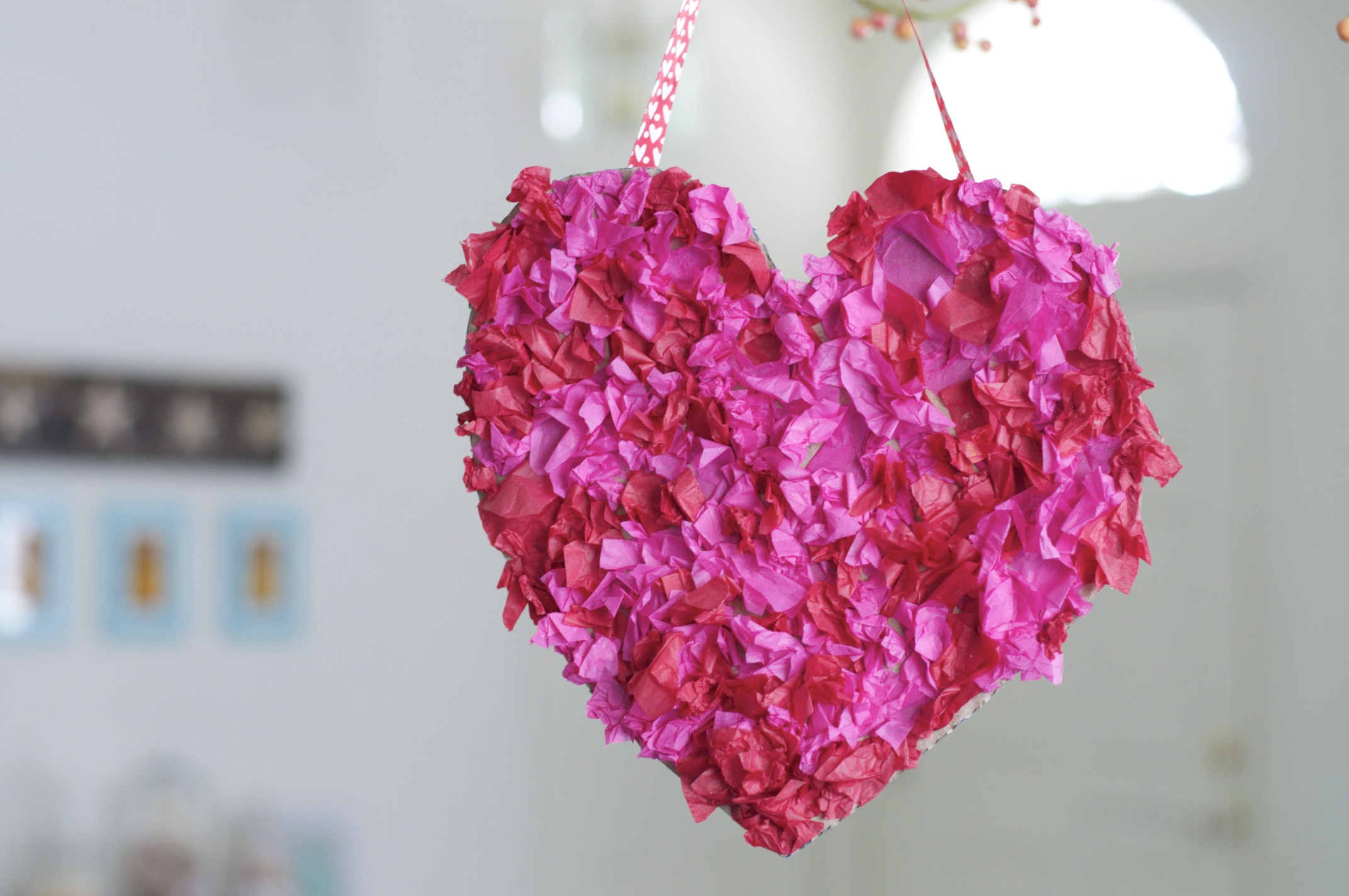 Tissue Paper Heart Wreath Fun Family Crafts