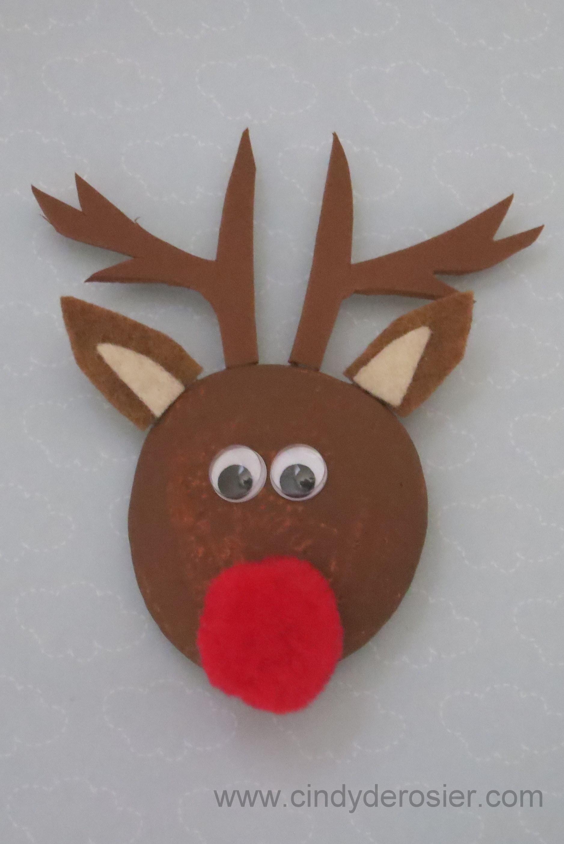 Reindeer Pet Rock Fun Family Crafts