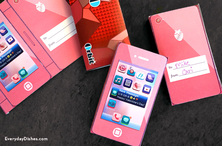 Printable Cell Phone Candy Wrapper Fun Family Crafts