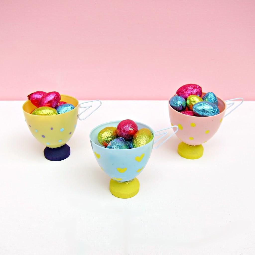 Plastic Egg Tea Cups Fun Family Crafts