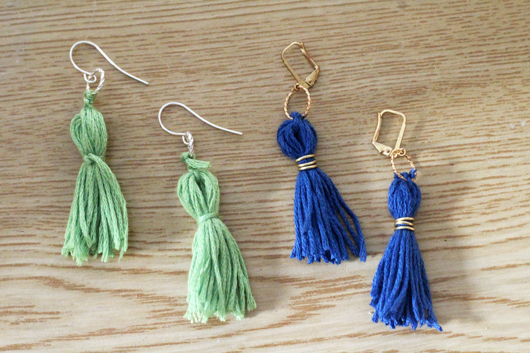 Tassel Earrings Fun Family Crafts