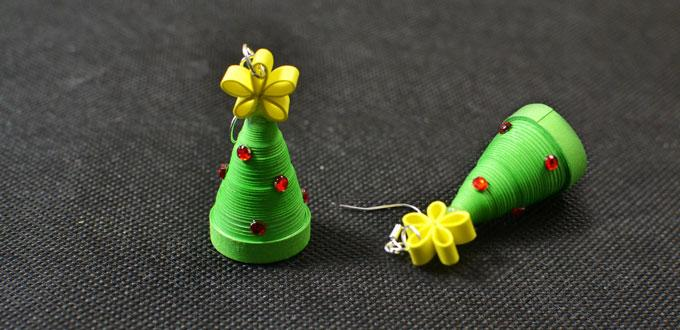 Quilled Christmas Tree Earrings Fun Family Crafts