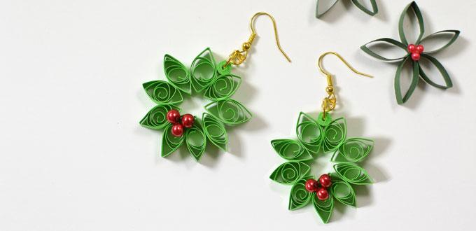 Quilled Wreath Earrings Fun Family Crafts