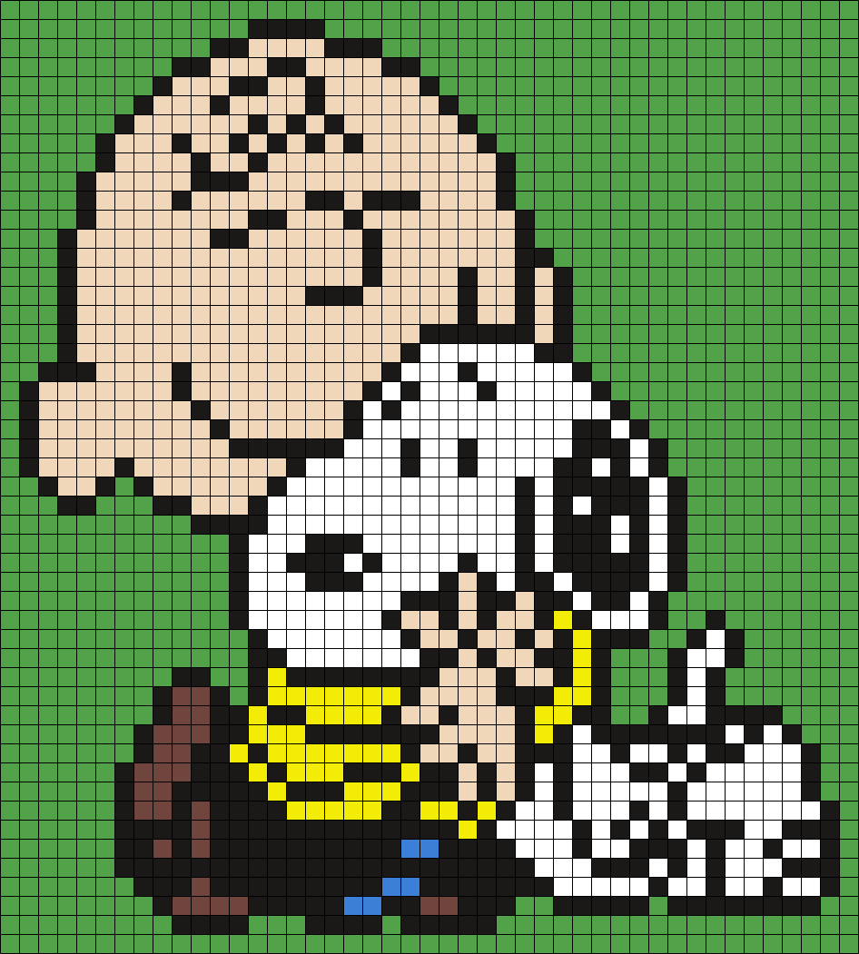 Charlie Brown And Snoopy Perler Bead Art Fun Family Crafts