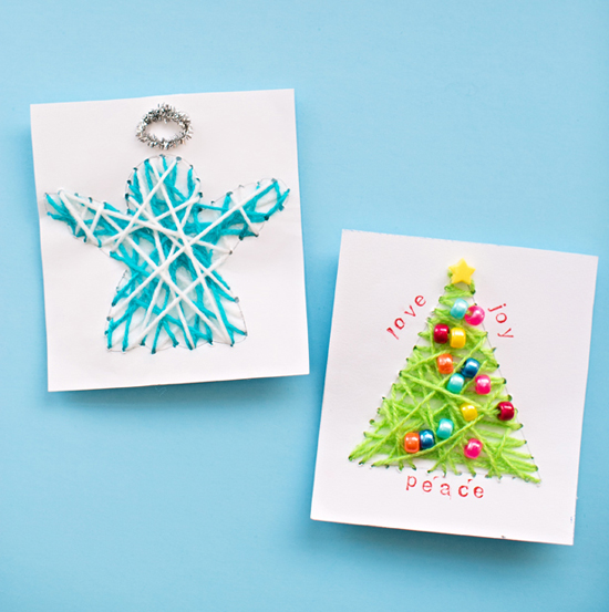 String Art Christmas Cards Fun Family Crafts
