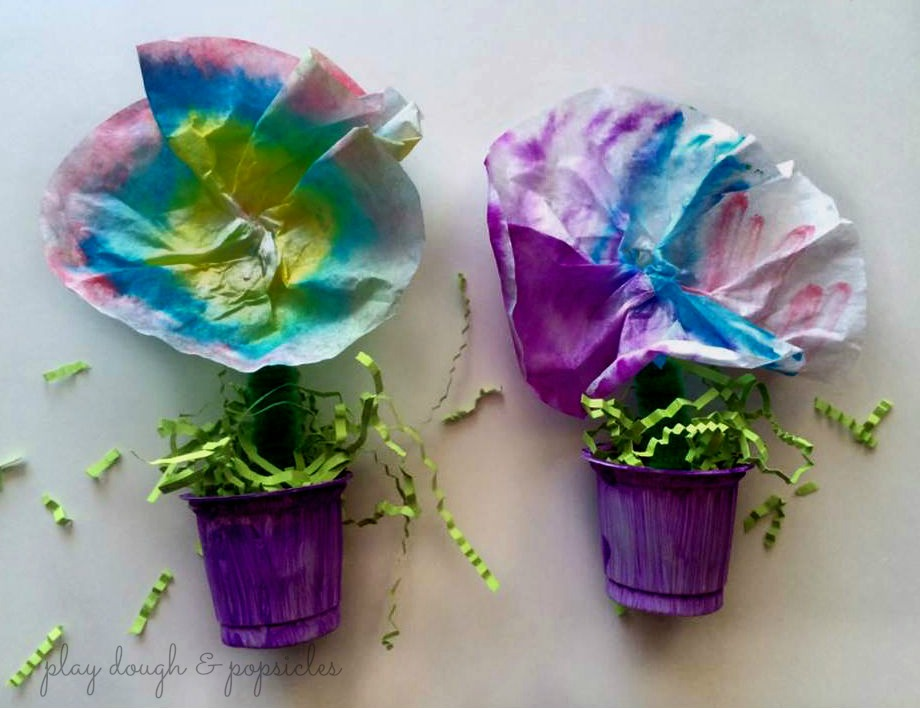 Spring Inspired Colorful Flower Pot Craft Fun Family Crafts