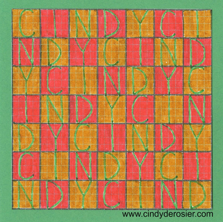 Graph Paper Grid Name Art