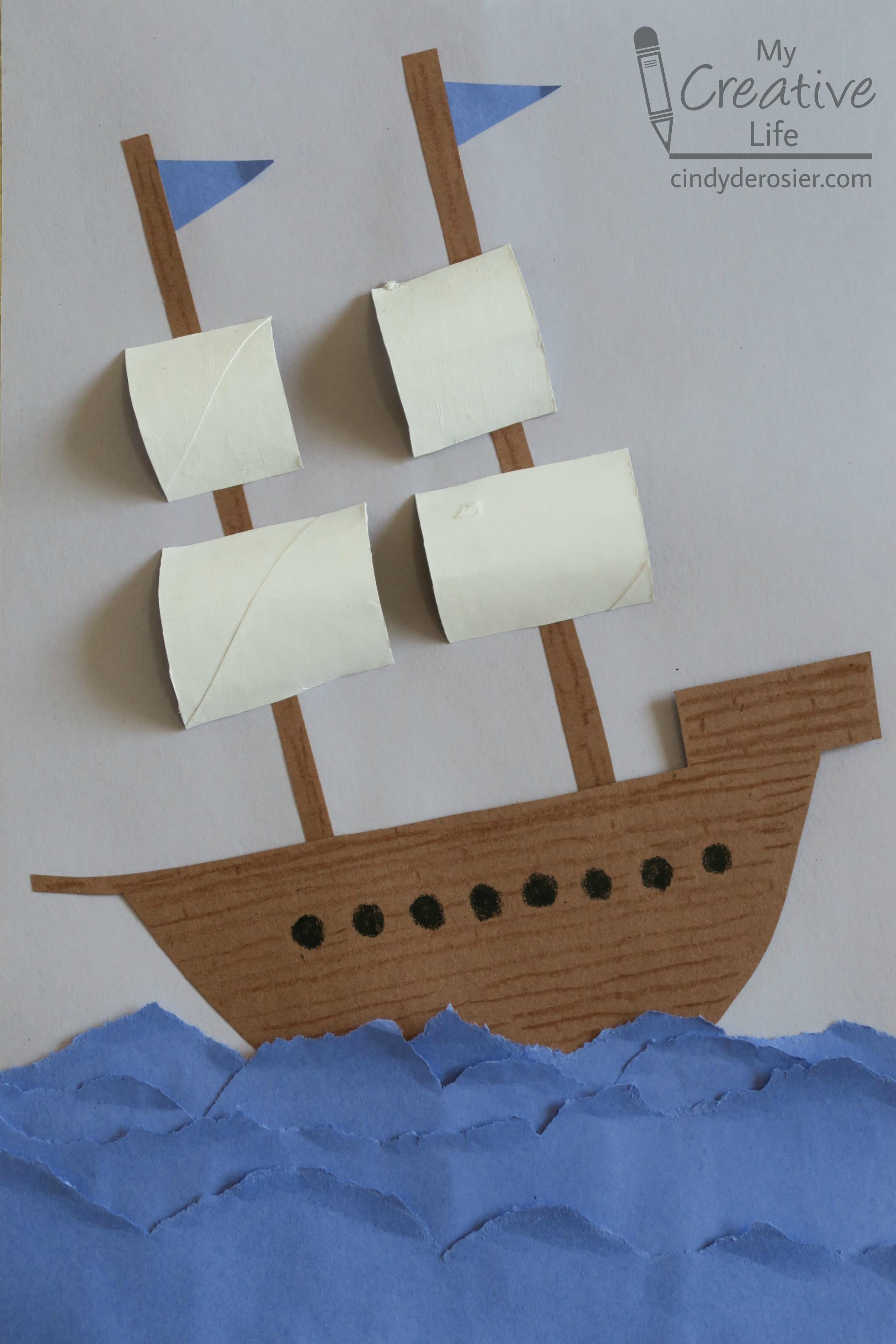 Construction Paper Explorer Ship