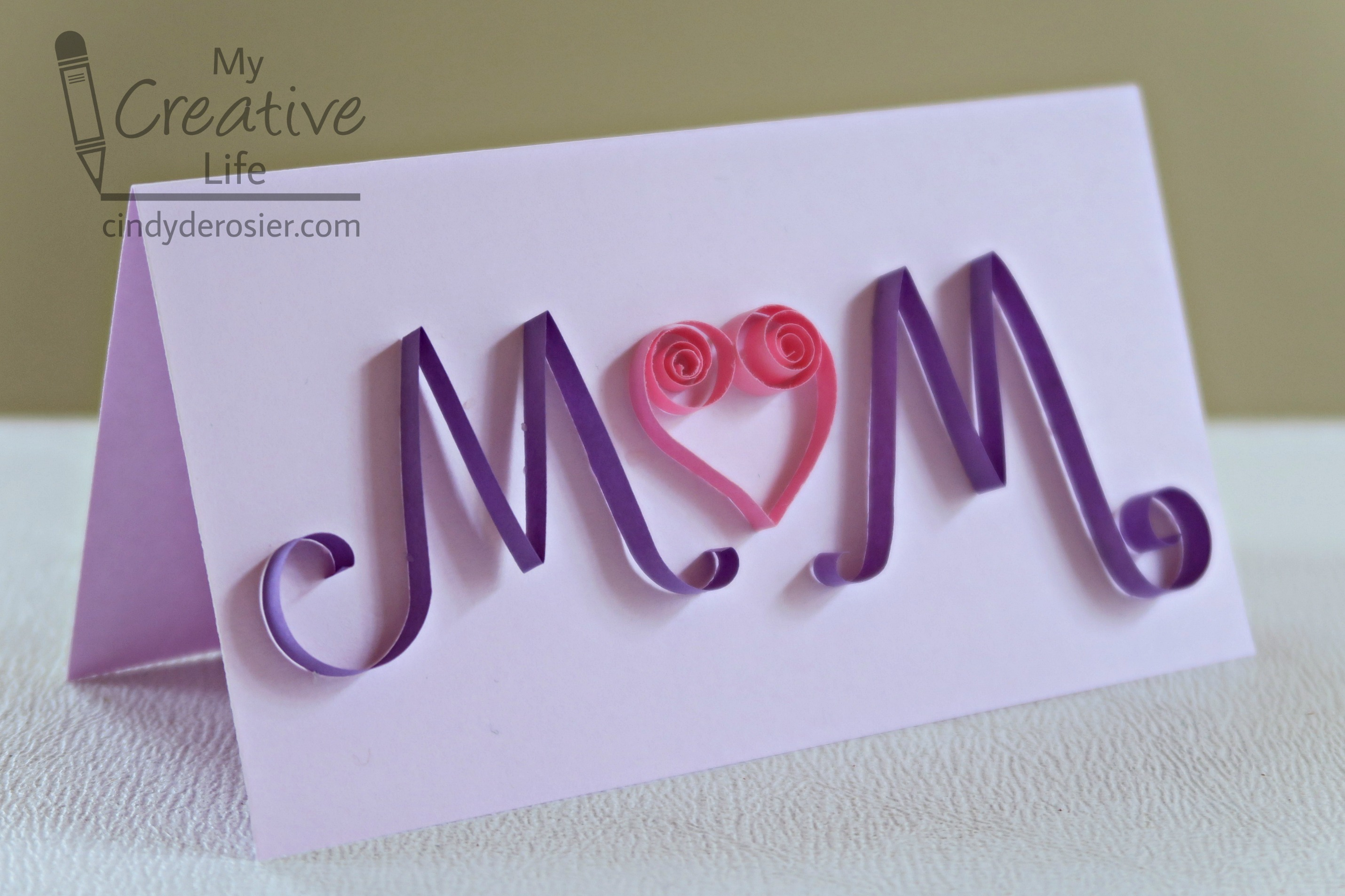 Quilled Mothers Day Card Fun Family Crafts