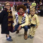 toy story characters at Comic Con