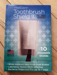 Bacteria free toothbrush covers