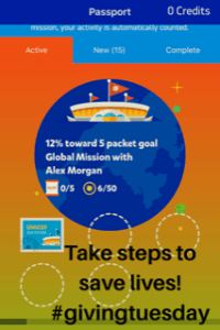 Giving Tuesday: Donate steps with UNICEF Kid Power App