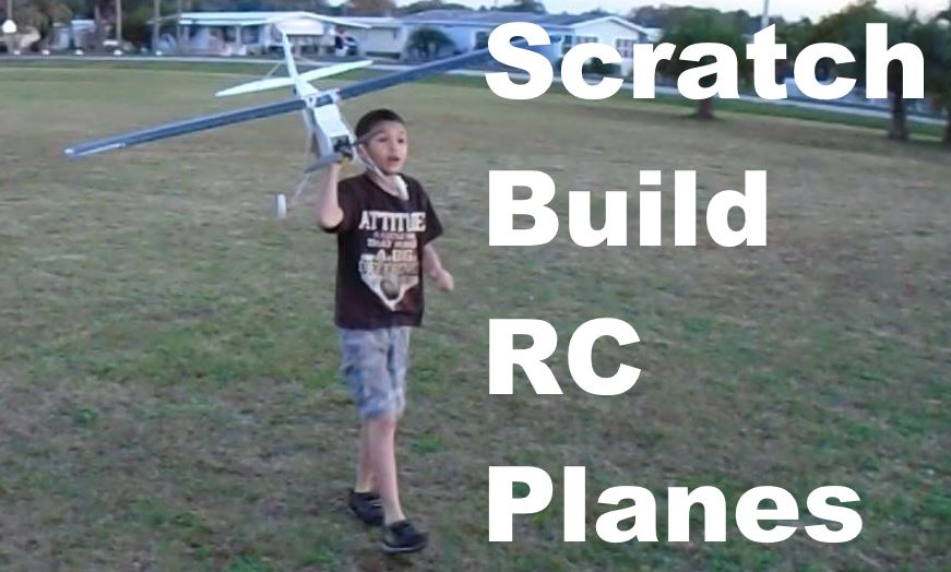 Scratch Built Electric RC Airplanes | Funflies com