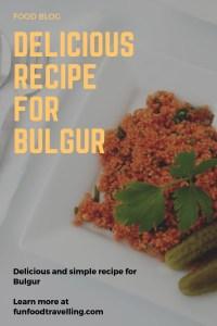 bulgur recipe