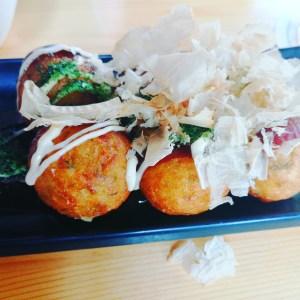 takoyaki japanese balls with octopus