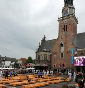 world famous Alkmaar cheese market