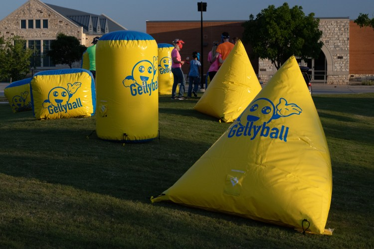 GellyBall bunkers creating an outdoor arena
