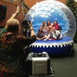 Human Snow Globe Action Shot - Older Globe