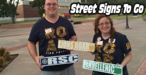 Custom Street Signs are our most popular event