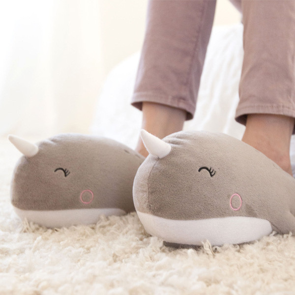 USB heating slippers electric foot warmers