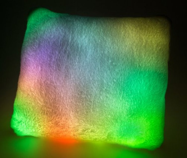 Psychedelic Moonlight Pillow With LED Lights