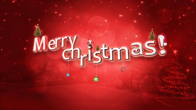 Image Of Words Merry Christmas