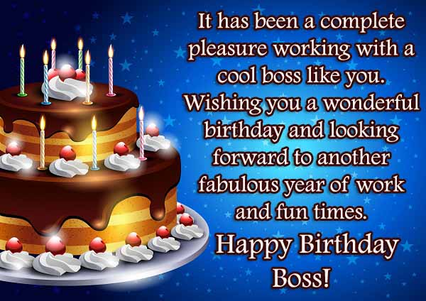 Boss Birthday SMS
