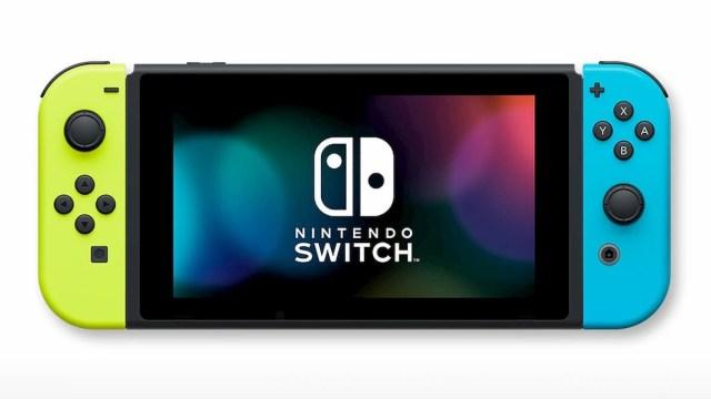 『Nintendo Switch』(Joy-Con(L)ネオンイエロー/(R)ネオンブルー+ストラップ ブラック2本)