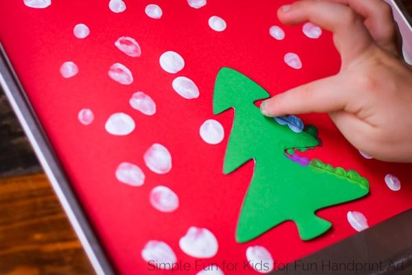 Fingerprint Christmas Tree Cards With Templates Fun