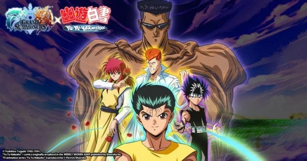 'Yu Yu Hakusho' Returns in a Collaboration with Mobile Game GRAND SUMMONERS