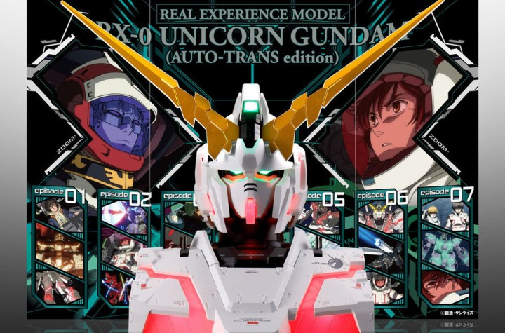 This Transforming Unicorn Gundam May Not Be Life-Size, it's the Next Best Thing