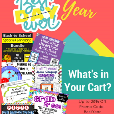 """""""What's in Your Cart?"""" Linky for TpT's Back to School Sale 2016"""