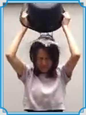 遠藤舞 アイスバケツチャレンジ
