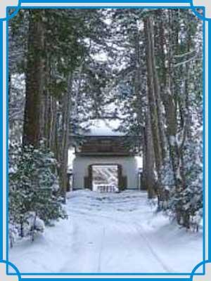 円通律寺 冬