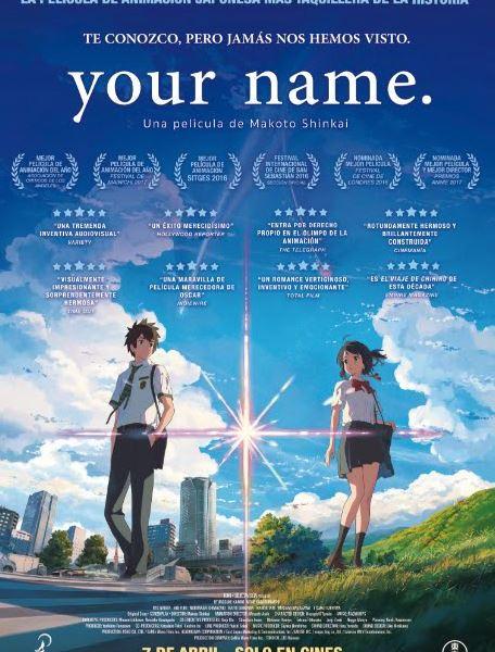 El éxito de taquilla en Japón «Your name.» llega a nuestros cines el 7 de abril