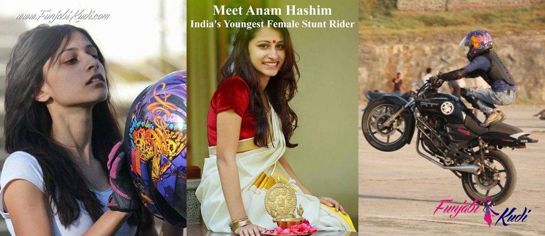 Meet Sports Women Anam Hashim Indias Youngest Female Stunt Rider