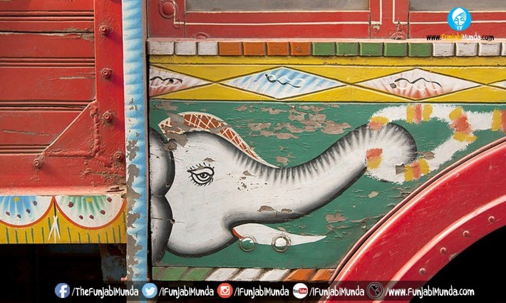 Vibrant And Colorful Indian Street Artwork
