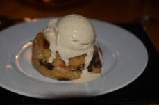 Baileys bread & butter pudding with baileys ice cream